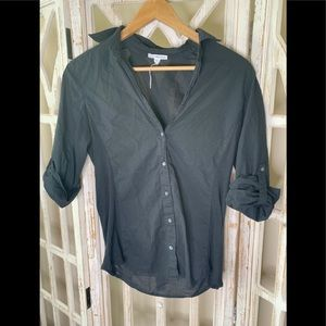 Standard James Perse size 4 button up black blouse
